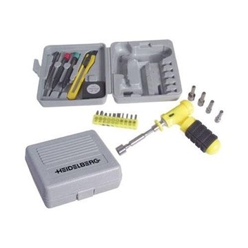 Promotional 24- Piece Tool Set with Plastic Storage Case