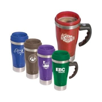 14-oz. Acrylic/Stainless Steel ''Stir'' Travel Mug