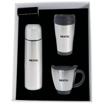Promotional 17- oz. (.50- Liter) Stainless Steel Vacuum Insulated Bottle, Tumbler Mug Gift Set