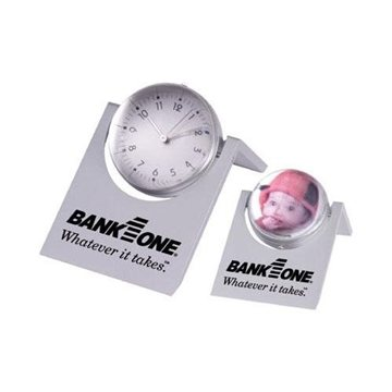 Promotional Magnified Sphere Clock with Photo Frame