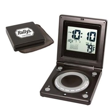 Promotional World Time Alarm Clock with Calendar Thermometer
