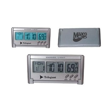 Promotional Jumbo LCD EL - Backlit Travel Alarm Clock