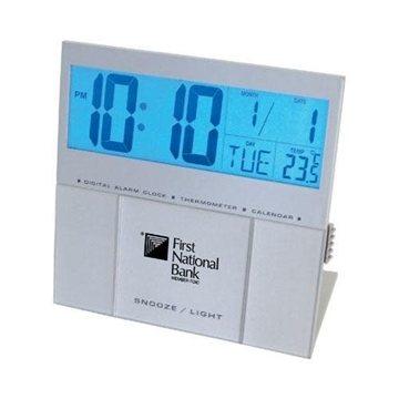 Jumbo EL Backlight LCD Desk Alarm Clock/Thermometer