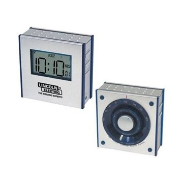 Dual-Panel FM Clock Radio with Large LCD Screen