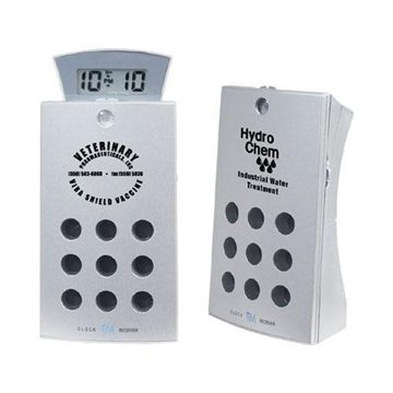 Aluminum FM Scan Radio with Sliding Alarm Clock