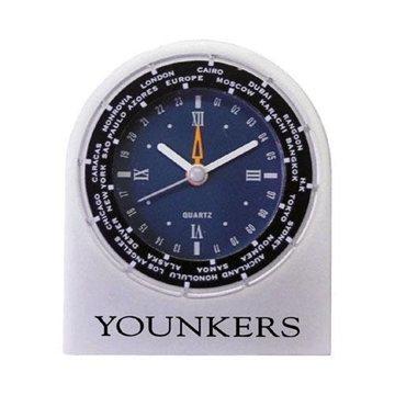 Promotional Cast Aluminum World Time Alarm Clock