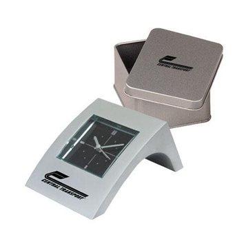 Promotional Mini Angle Aluminum Alarm Clock