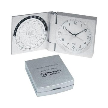 Promotional Aluminum World Travel Alarm Clock