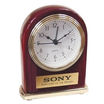 Promotional Rosewood or Walnut Finish Clock