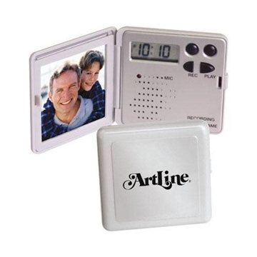 Promotional Mini Recording / Talking Photo Frame with Clock