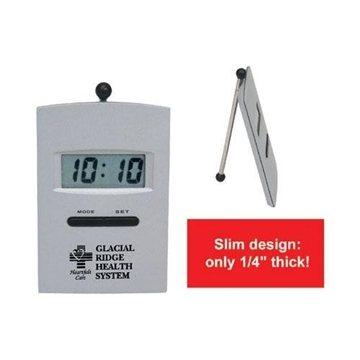 Slim Die-Cast LCD Desk Alarm Clock