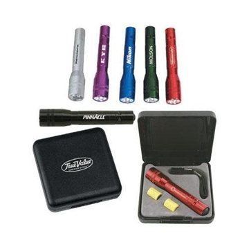 Anodized Aluminum Mini LED Flashlight Gift Set