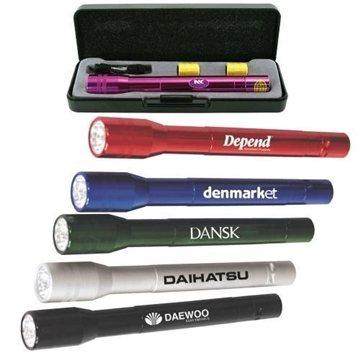 Promotional Anodized Aluminum LED Flashlight Gift Set