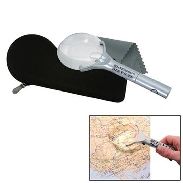 Rimless LED Lighted Magnifier