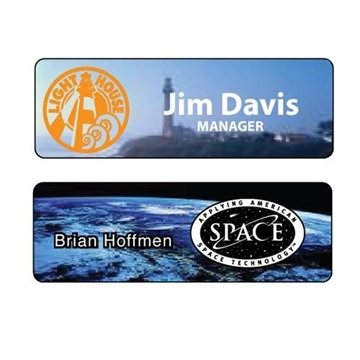 1'' x 3'' Full-Color Sublimation Name Badge