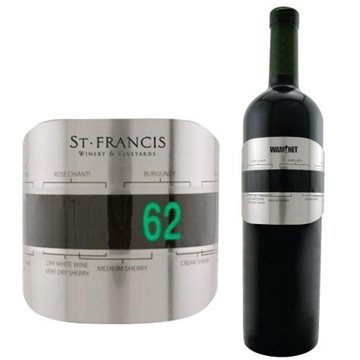 Promotional Stainless Steel Wine Bottle Thermometer