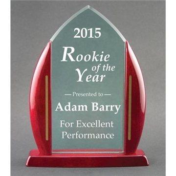Acrylic Flame Award with Base - 71/2'' x 9 5/8''