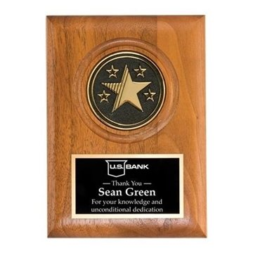Promotional Large Star Medallion Plaque - 9 x 12