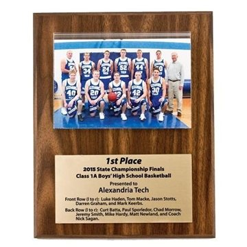Walnut Finish Photo Plaque - 8'' x 10''