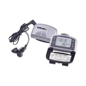 Promotional FM Scan Radio with 5- Function Pedometer