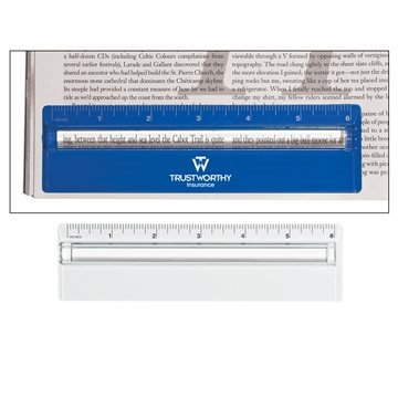 Plastic 6'' Ruler With Magnifying Glass