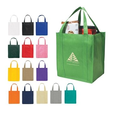 Non Woven Multi Color Shopper Tote Bag 13'' X 15''