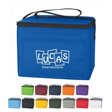 Polyester Custom Budget Cooler Bag 6 Cans