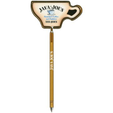 Promotional Coffee Cup - Billboard InkBend Standard(TM) Shaped Pens