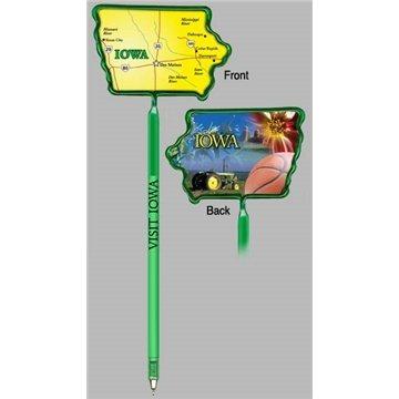 Promotional Iowa - Billboard InkBend Standard(TM) Shaped Pens