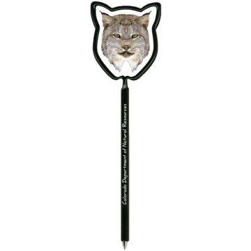 Promotional cat-lynx-billboard-inkbend-xtra-shaped-pen