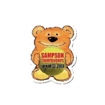 Promotional Tennis Bear Design - A - Bear Magnet