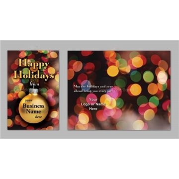 Promotional Happy Holidays / Christmas Lights - Executive Greeting Cards with Magnets