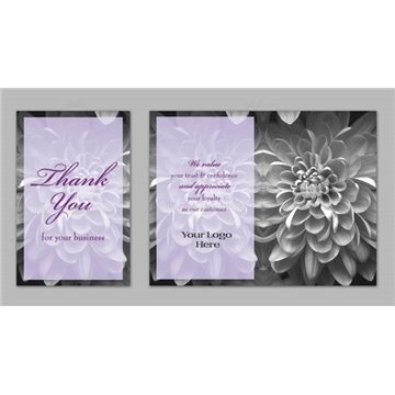 Thank You / Lavender Flower - Executive Greeting Cards with Magnets