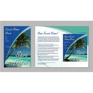 Promotional Save the Date - Tropical theme - Executive Greeting Cards with Magnets