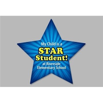 Star - Exterior-Auto Die Cut Magnets