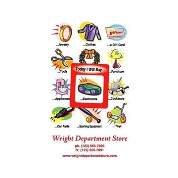 Promotional Frame - of - Mind(TM) Gator Mag(TM) - Department Store
