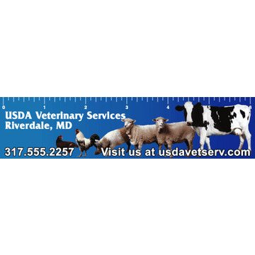 Promotional Farm Animals - Ruler Magnets
