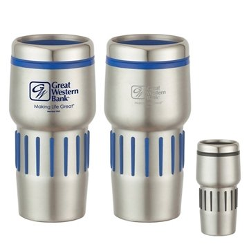 16 oz Stainless Steel Tumbler With Rubber Grips