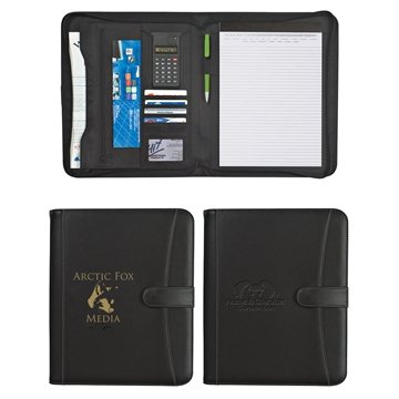 Pebble Grain 8 ½'' X 11'' Zippered Portfolio With Calculator
