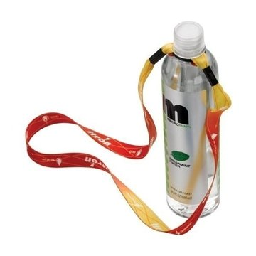 Promotional 3/4 Recycled Dye - Sublimated Water Bottle Shoulder Strap