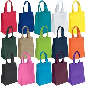 Non Woven Color Vista Multi Color Ike Tote Bag 8'' X 10''