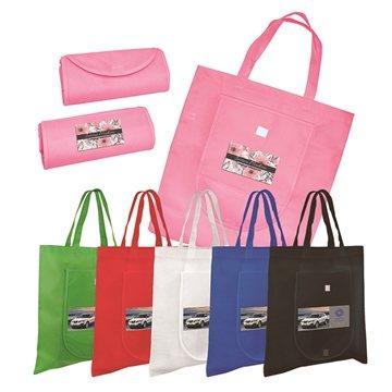 Non-Woven Fold 'n Go Tote Bag, Full Color Digital