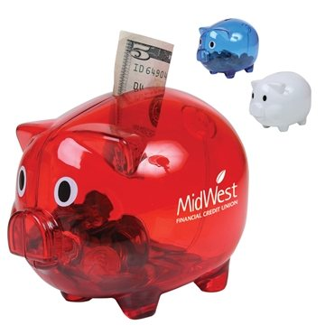 Custom Translucent Piggy Bank Coin Bank