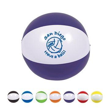 16'' Multi Color Custom 2 Tone Beach Ball