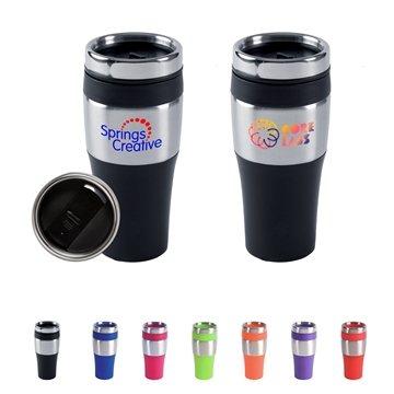 16 oz BPA-Free Plastic Silver Streak Tumbler