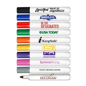 Low Odor Bullet Tip Dry Erase Markers - USA Made