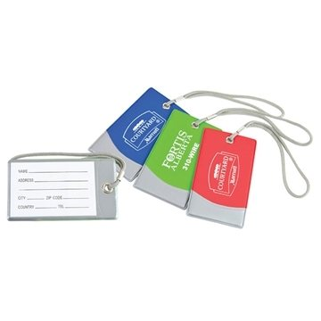 Promotional Bright Vinyl Spot Luggage Tag