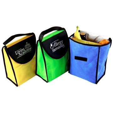 Non Woven Foldable Kool Tote Insulated Lunch Bag 7'' X 9.5''