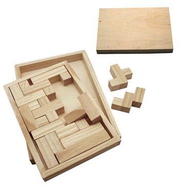 Eco-Friendly Wood Shapes Challenge Puzzle
