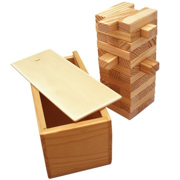 Eco-Friendly Wooden Tower Puzzle Game